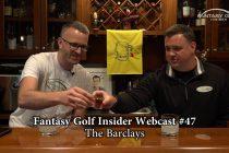 Fantasy Golf Insider Webcast- The Barclays