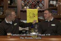 Fantasy Golf Insider Webcast- The Honda Classic
