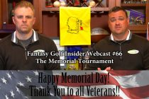 Fantasy Golf Insider Webcast- The Memorial Tournament